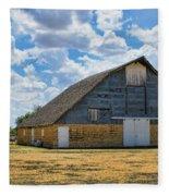 Kansas Stone Barn Fleece Blanket