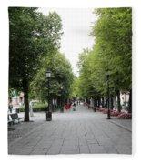 Karl Johans Gate Fleece Blanket