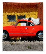 Karmann Ghia Fleece Blanket