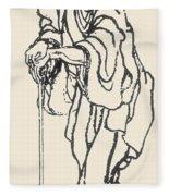 Katsushika Hokusai Fleece Blanket