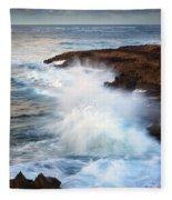Kauai Sea Explosion Fleece Blanket
