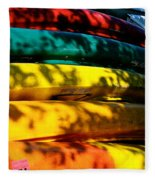 Kayak Colors Fleece Blanket