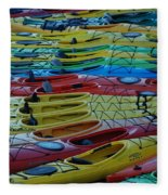 Kayak Row Fleece Blanket