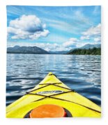Kayaking In Bc Fleece Blanket