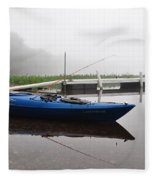 Kayaking Morning Fleece Blanket