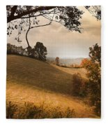Kentucky Type Hayfields Fleece Blanket