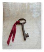 Key On Windowsill Fleece Blanket