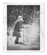Khloe - Grayscale Fleece Blanket