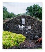 Kiahuna Golf Club Fleece Blanket