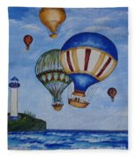 Kid's Art- Balloon Ride Fleece Blanket