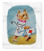 Kids Art Dogtor Fleece Blanket
