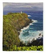 Kilauea Lighthouse Hawaii Fleece Blanket