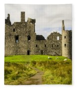 Kilchurn Castle Fleece Blanket