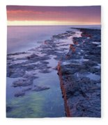 Killala Bay, Co Sligo, Ireland Bay At Fleece Blanket