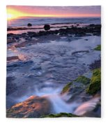 Killala Bay, Co Sligo, Ireland Sunset Fleece Blanket