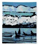Killer Whales Fleece Blanket