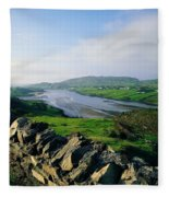Killybegs, Co Donegal, Ireland Stone Fleece Blanket