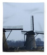 Kinderdijk Windmills 2 Fleece Blanket