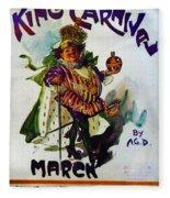 King Carnaval March - Mardi Gras Fleece Blanket