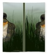 King Frog - Gently Cross Your Eyes And Focus On The Middle Image Fleece Blanket