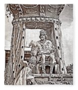 King Of Rex - Painted Bw Fleece Blanket