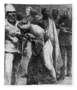 King Riouga And Samuel Baker, 1869 Fleece Blanket