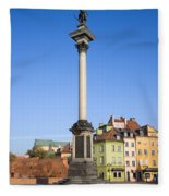 King Sigismund Column In Warsaw Fleece Blanket