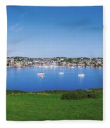 Kinsale, Co Cork, Ireland Boats And Fleece Blanket