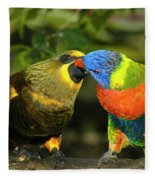 Kissing Birds Fleece Blanket