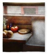 Kitchen - Sink - Farm Kitchen  Fleece Blanket