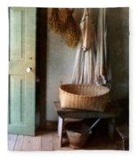 Kitchen Door In Old House Fleece Blanket