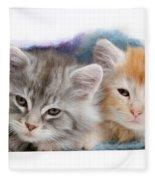 Kittens Under Blanket Fleece Blanket