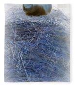 Kitty Blue Fleece Blanket