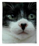 Kitty Closeup Fleece Blanket