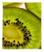 Kiwi Fruit Macro 5 Fleece Blanket