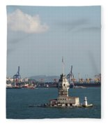 Kiz Kulesi - Leander Tower Istanbul Fleece Blanket