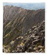 Knife Edge Mount Katahdin Baxter State Park Fleece Blanket