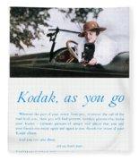 Kodak Advertisement, 1917 Fleece Blanket