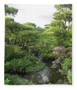 Kokoen Samurai Gardens - Himeji City Japan Fleece Blanket