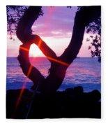 Kona Sunset Hawaii Fleece Blanket