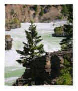 Kootenai Falls In Montana Fleece Blanket