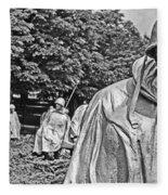 Korean War Memorial Fleece Blanket