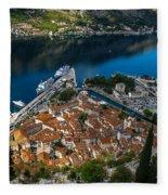 Kotor Montenegro Fleece Blanket