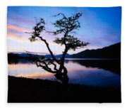 Kylemore Lake, Connemara, Co Galway Fleece Blanket
