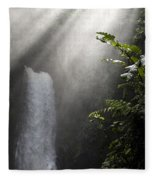 La Paz Waterfall Costa Rica Fleece Blanket