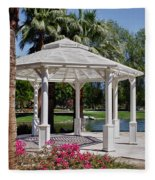 La Quinta Park Gazebo Fleece Blanket