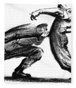 Labor Cartoon, 1916 Fleece Blanket