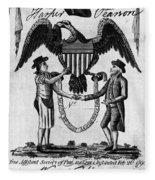 Labor Certificate, 1795 Fleece Blanket