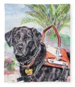 Labrador Retriever Service Dog Fleece Blanket