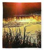 Lacassine Sundown Fleece Blanket